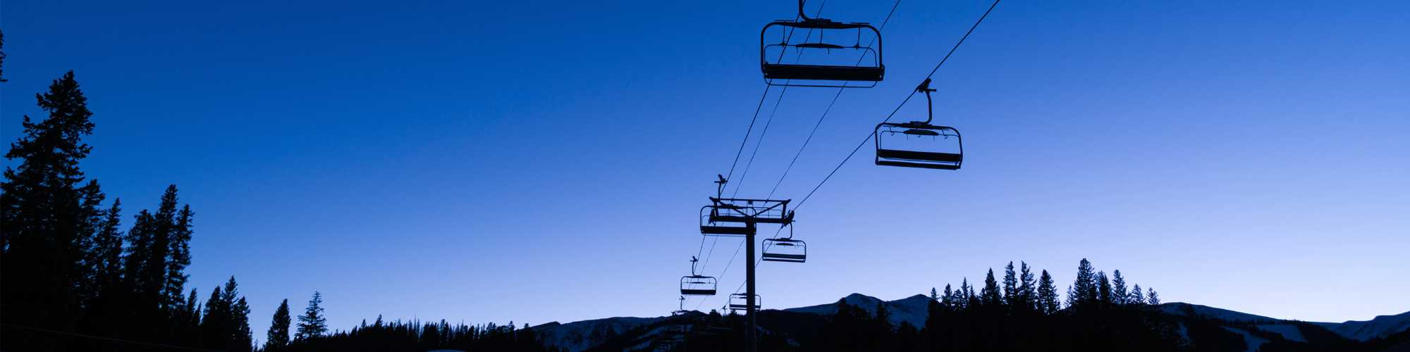 Chairlift at Night